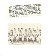 Baileyton Station Greeneville Tennessee 1953 Baseball Team Picture