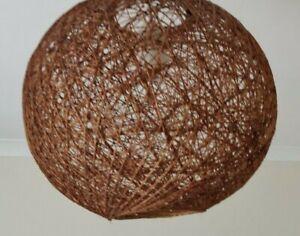 Medium String Rattan Globe Ball Lampshade Pendant Lightshade Retro 26cm diameter