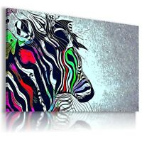 ZEBRA Wild Animals Canvas Wall Art Abstract Picture Large AB324 MATAGA .