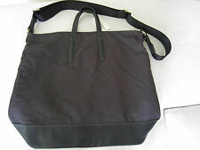 "Paul Smith Mens ""OTTO"" Black Dip Dye Leather + Nylon Tote Bag"