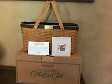 Longaberger 2003 Collector's Club Membership Basket 2nd Ed Combo Reduced Further