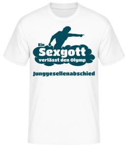 Junggesellenabschied T-Shirt JGA Bachelor Stag Night Sexgott