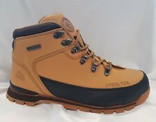 MENS GROUNDWORK  SAND  SAFETY STEEL TOE CAP WORK  TRAINER BOOTS HONEY SIZE uk 7