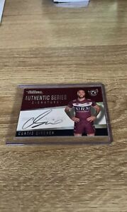 2021 Nrl Traders Authentic Series Signature Curtis Sironen Manly Sea Eagles AS