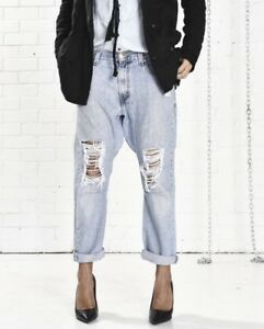 NWT ONE by One Teaspoon Sz XS VINTAGE SAINTS Destroyed Jeans BLUE COCO LIGHTIES