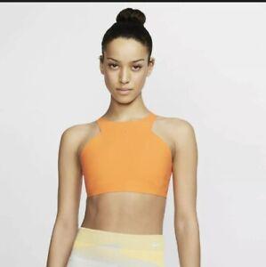 Nike Women's Light Support Non Padded Sports Bra AV4430-886 Orange Size XS