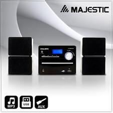 KOMPAKT STEREO HIFI ANLAGE CD RADIO USB 2x DVD MP3 PLAYER AUX PIANO LACK LCD NEU