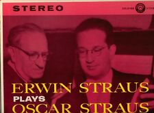 ERWIN STRAUS PLAYS OSCAR STRAUS-COLONIAL STEREO LP NM  RARE