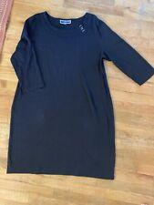 Karen Scott Sport Cotton Shirt Shift Hardware DRESS Black Casual Weekender XXL