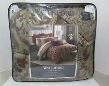 Waterford Amarah Reversible 4 Piece Comforter Set In Cabernet Size QUEEN $400