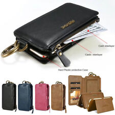 Floveme Flip Card Magnetic Zipper Leather Wallet Case For iPhone X 8 7 6 6S Plus