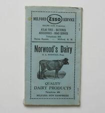 MILFORD NH Co-Operative Bank Deposit Envelope Folder Vintage Advertising
