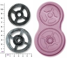 Steam Punk COGS & Engranajes X 2 grandes Sculpey Silicona molde molde sugarcraft Craft