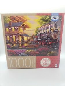 Milton Bradley Puzzle, Art by Geno Peoples, A Warm Welcome Jigsaw Puzzle 1000
