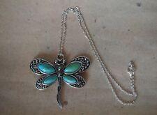 Kette Libelle *Neu* Kette versilbert, Kettenanhänger Tier, Insekt