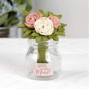 Love You MOM Flower Vase Resin NEW Blossom Bucket Barbara Lloyd 3.5 Mother's Day