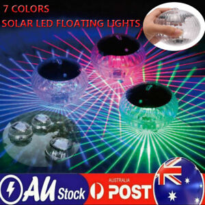 Solar Waterproof LED Floating Lamp Party Pond Garden Lights Outdoor Glow Ball AU