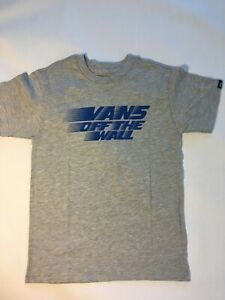 Vans New Racers Edge Short Sleeve Heather Gray T-Shirt Youth Boy's Size 5/M