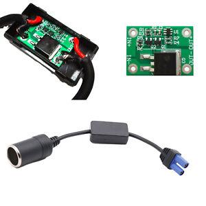 Cigarette Lighter Socket To EC5 Undervoltage Protection Car Jump Starter Cable