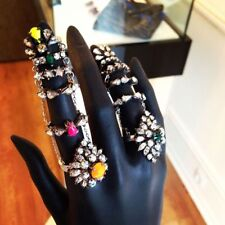 Shourouk Silver-plated Swarovski Green Crystal Ring Archive Design SOLD OUT!!!!