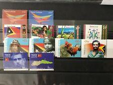 East Timor 2000 2005  first twelve stamps of new Nation East Timor - Timor Leste