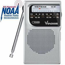 NOAA Weather Radio - Emergency NOAA/AM/FM Battery Operated Portable Radio wit...