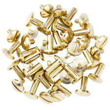 20-60x 10mm Flat Belt Screw Leather Craft Chicago Nail Brass Solid Rivets Head