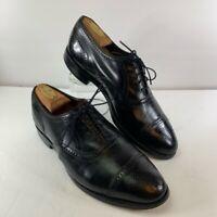 Allen Edmonds Mens Stratton Oxfords Dress Shoes Black Almond Cap Toe Leather 9D