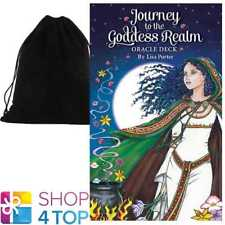 JOURNEY TO THE GODDESS REALM ORACLE CARDS DECK ESOTERIC ASTROLOGY VELVET BAG