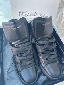Yves Saint Laurent high top boots/trainers Yves Saint Laurent shoes designer
