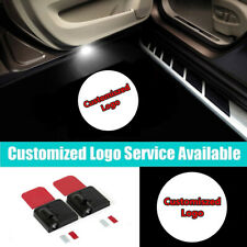 2Pcs Wireless Customized Logo LED Car Door Welcome Projector Shadow Light