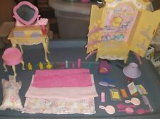 New ListingBarbie Bedroom Furniture 1996 Folding Pretty Armoire Vanity With Accessories