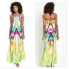 Polyester Halter Neck Long Tall Dresses for Women