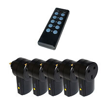5 x control remoto del Reino Unido 240v Wireless Red sockets-interruptor enchufe Adaptador De Rf