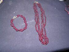 vintage  garnet gemstones necklace
