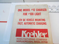 500012 Koehler 12V Dc Vehicle Mounting Fast Charging Out 5Vdc New Old Stock
