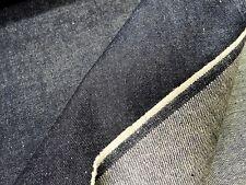 0,50 m Hanfstoff Jeansware jeansblau Webartikel Hanf / Organic Cotton 6271
