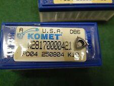 5 Komet W28 17000.0421 PD04 250804 K10 Carbide Inserts