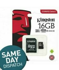16gb micro sd card Kingston up to 80mb/s free Adapter! High quality! UK SELLER