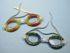 Aqua Kids Swim Goggles Clear Lens Multi Colored 2 Pair One Size Fits All NEW