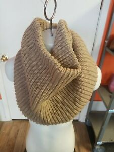 Merona Women's Infinity Circle/Loop Scarf One Size Dark Camel Knitted Cowl Neck