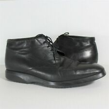 VTG Bally Riano Rare Black Ankle Boots Mens 12 H67