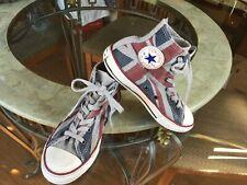 Converse Vintage Look Faded Union Flag High Tops British Jack All Star Youth Sz1