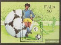 Laos Block130 (kompl.Ausg.) postfrisch 1990 Fußball-WM ´90 in Italien