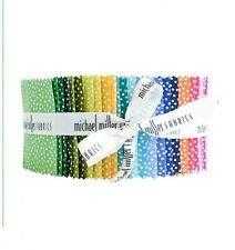 "Michael Miller, Garden Pin Dot, 40 - 2.5"" strips, jelly roll"