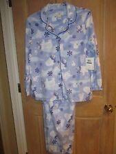 NEW KAREN NEUBURGER XL FLEECE Pajamas L/S PJ's LONG PANTS Purple Polar Bears