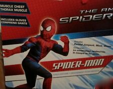 Amazing Spider-Man 2 MUSCLE Costume Peter Parker SZ 8-10 INCLUDES GLOVES 620384