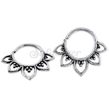 2pcs Real 925 Sterling Silver 16G Oxidized Septum Piercing