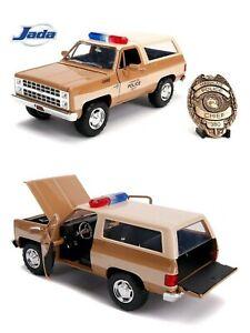 1/24 Jada Stranger Things 1980 Blazer Véhicule Police + Badge  Neuf