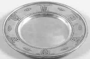 Wallace Silver Rose Point  Bread Plate 3497522